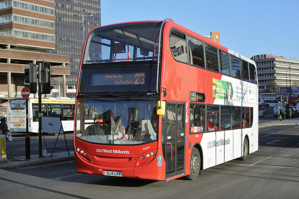 4945 SL14LRV, Birmingham 15/2/2016