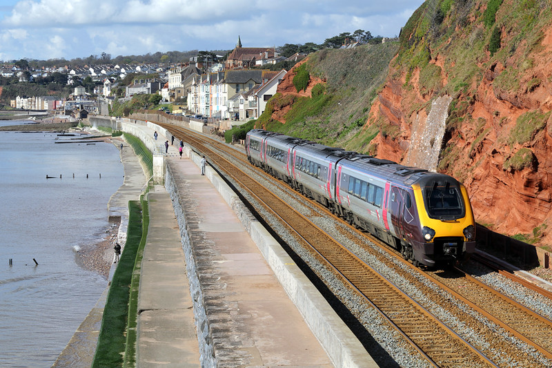 220023 Dawlish 17/4/2016<br /> 1S45 0925 Plymouth-Gloucester
