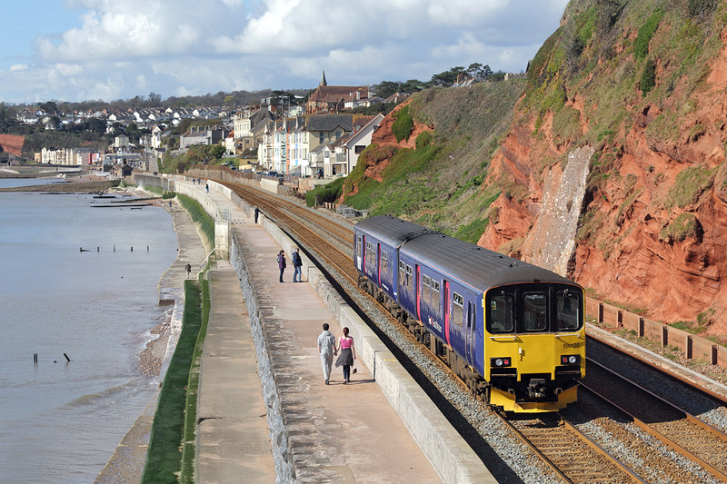 150130 Dawlish 17/4/2016<br /> 2T10 0910 Exmouth-Paignton