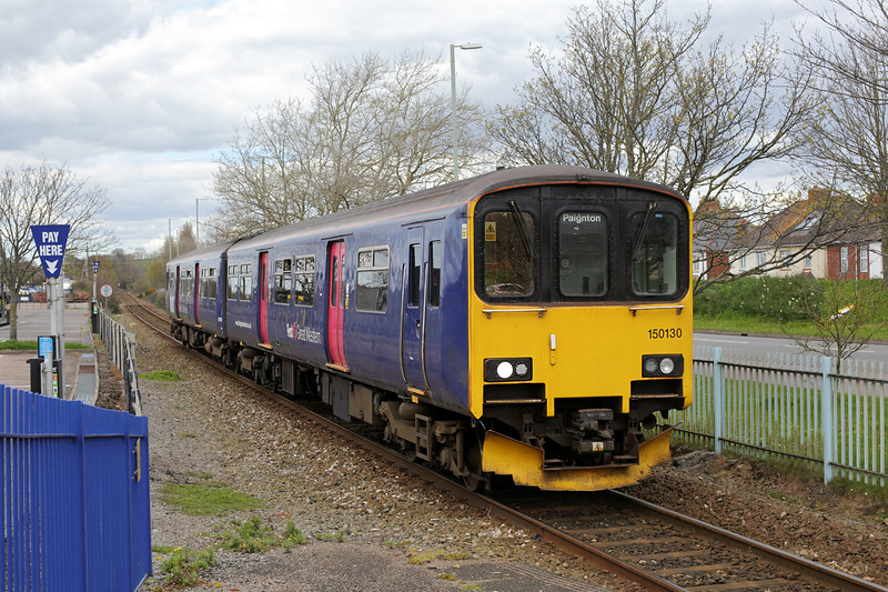 150130 Exmouth 17/4/2016<br /> 2F12 1352 Paignton-Exmouth