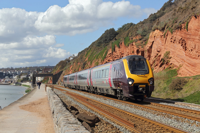220003 Dawlish 17/4/2016<br /> 1M45 1050 Paignton-Manchester Piccadilly