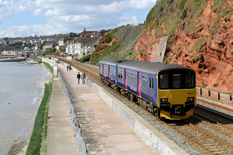 150123 Dawlish 17/4/2016<br /> 2T12 1019 Exmouth-Paignton