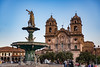 The modern town of Cusco has a large square with Spanish style buildings on foundations of Incan buildings.