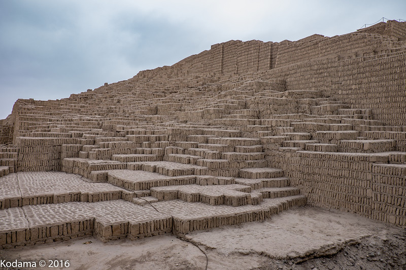 The structure is solid (no interior rooms), created from thousands of dried mud bricks