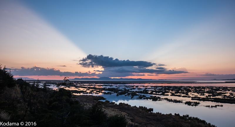 Sunrise over Lake Titicaca.
