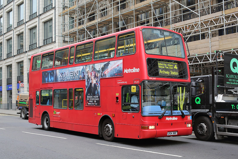 VPL597 LK04NNF, Ludgate Circus 21/5/2016