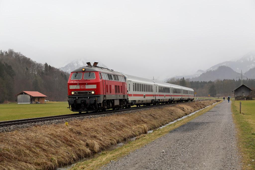 218476 Altstädten 23/2/2016<br /> IC2084 0940 Oberstdorf-Augsburg Hbf