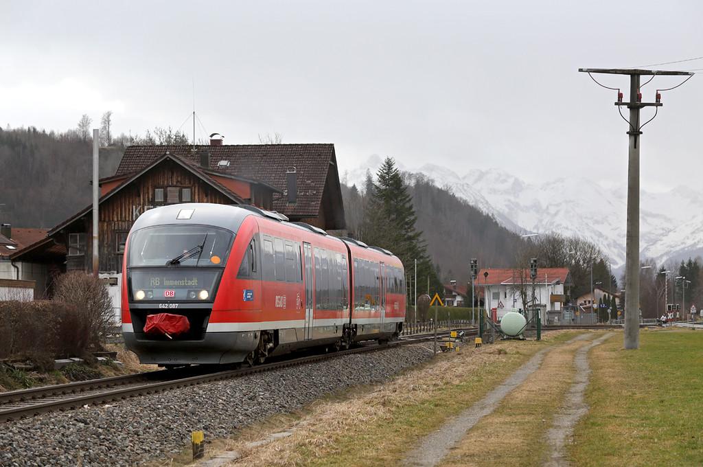 642087 Altstädten 23/2/2016<br /> RB57666 0904 Oberstdorf-Immenstadt