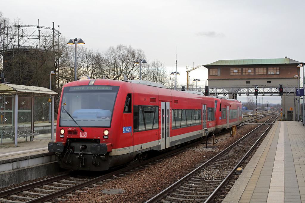 650321 Memmingen 23/2/2016<br /> RB57762 0817 Memmingen-Ulm Hbf