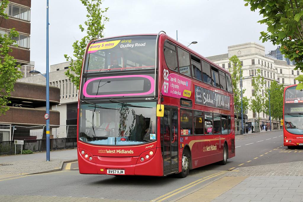 4747 BV57XJM, Birmingham 23/6/2016