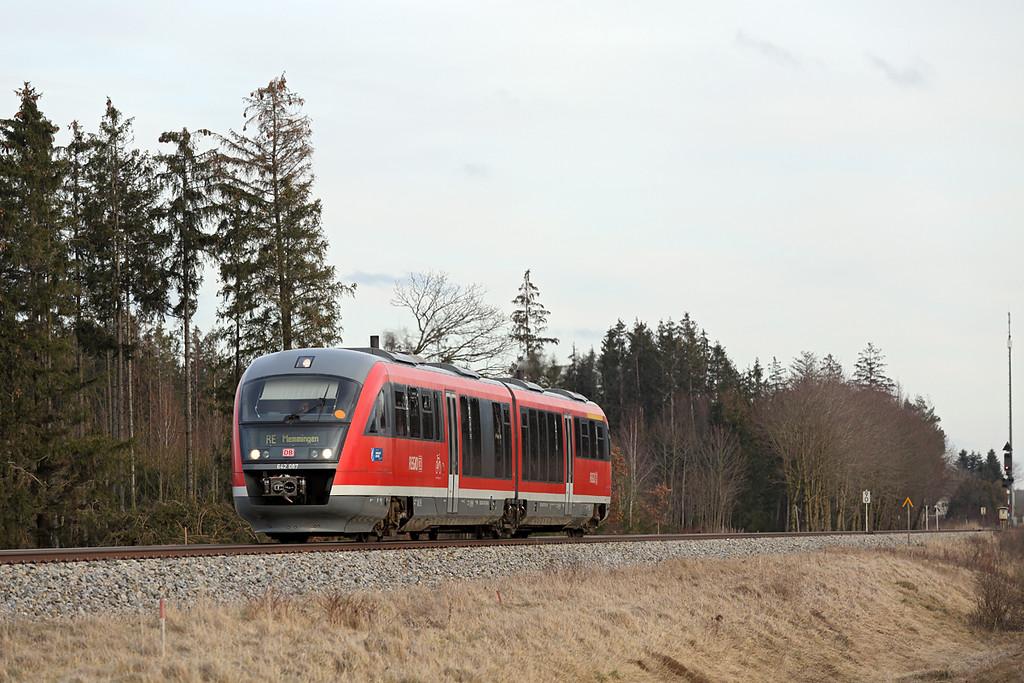 642087 Türkheim 24/2/2016<br /> RB57530 1530 Augsburg Hbf-Memmingen