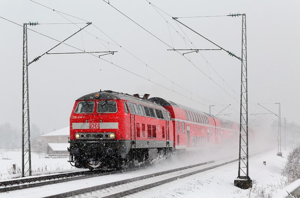 218414 München-Aubing 25/2/2016<br /> RE57506 0953 München Hbf-Füssen