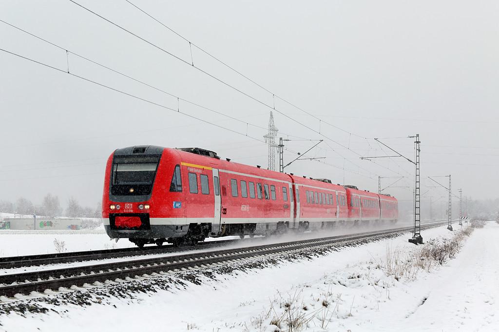 612091 München-Aubing 25/2/2016<br /> RE3484 1053 München Hbf-Kempten Hbf