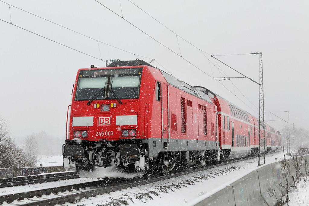 245003 München-Aubing 25/2/2016<br /> RE57507 1006 Füssen-München Hbf