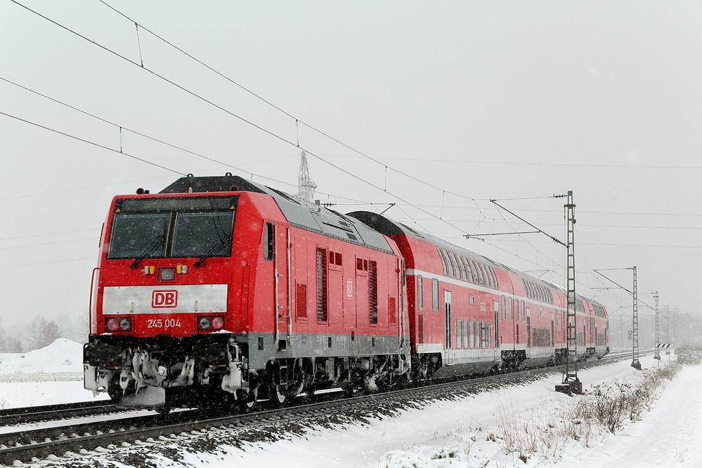 245004 München-Aubing 25/2/2016<br /> RE57407 1005 Memmingen-München Hbf