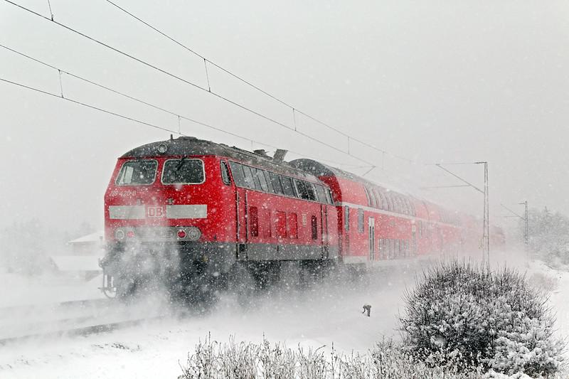 218420 München-Aubing 25/2/2016<br /> RE57505 0806 Füssen-München Hbf