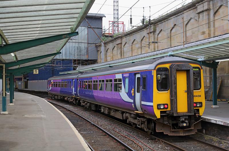 156438 Carlisle 25/6/2016<br /> 2N12 0828 Carlisle-Newcastle