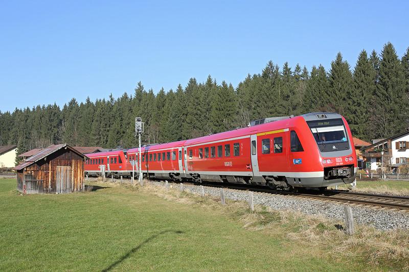 612001 Oberstdorf 29/11/2016<br /> RE3886 1237 Oberstdorf-Ulm Hbf