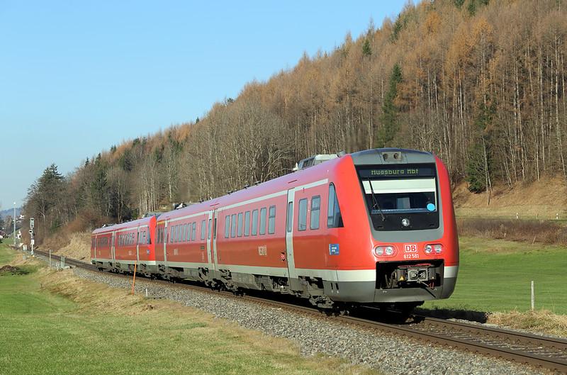 612581 Altstädten 29/11/2016<br /> RE3389 1334 Oberstdorf-Augsburg Hbf