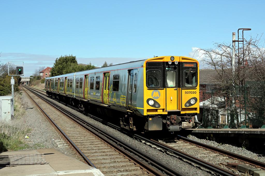 507030 Wallasey Village 30/3/2016<br /> 2N30 1338 New Brighton-New Brighton (via Liverpool Central)