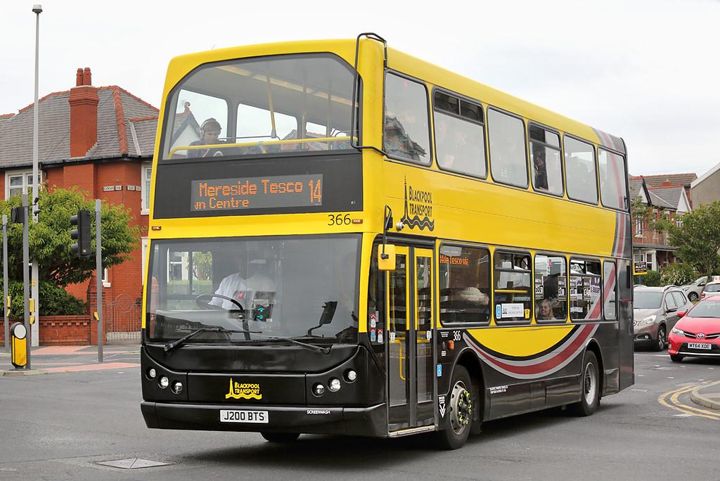 366 J200BTS, Blackpool 30/6/2016