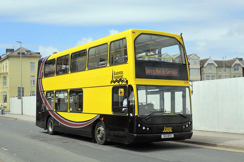 345 E12BTS, Blackpool 1/7/2016