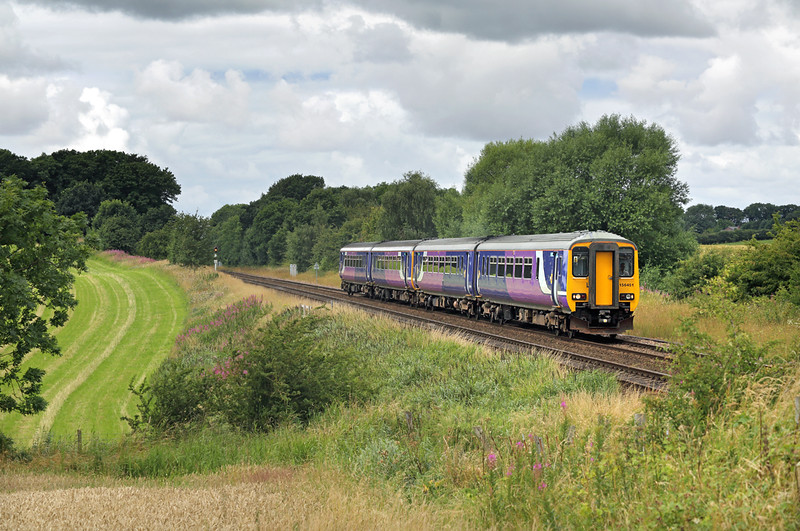 156451 and 156427, Treales 30/7/2016<br /> 1U63 1140 Blackpool North-Manchester Airport