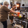 Taking a glass blowing class in Seattle