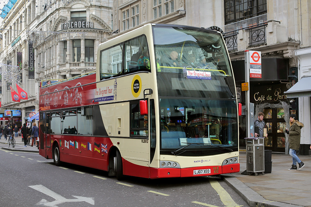 VLE612 LJ07XEO, Leicester Square 3/1/2017