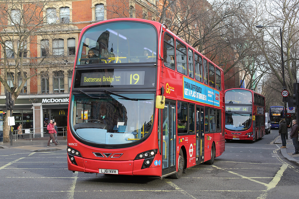 WHV22 LJ61NVH, Cambridge Circus 3/1/2017