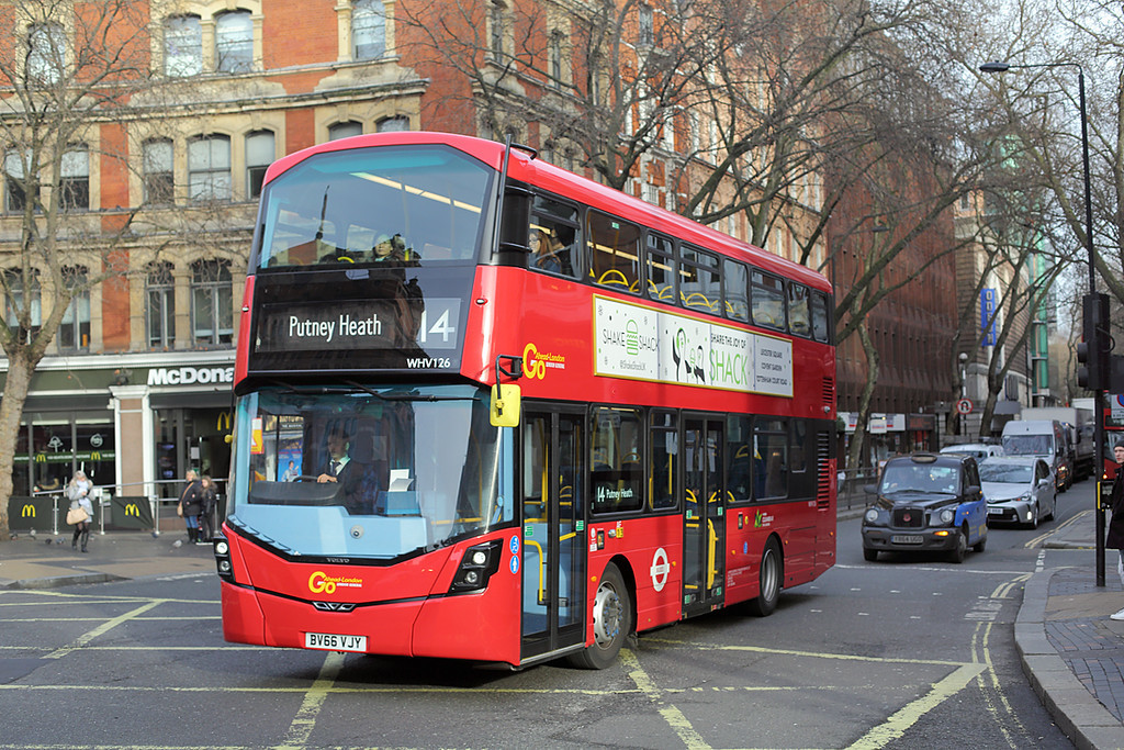 WHV126 BV66VJY, Cambridge Circus 3/1/2017