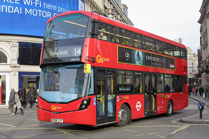 WHV124 BV66VJP, Piccadilly Circus 3/1/2017