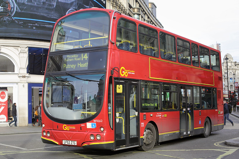 WVL62 LF52ZTG, Piccadilly Circus 3/1/2017