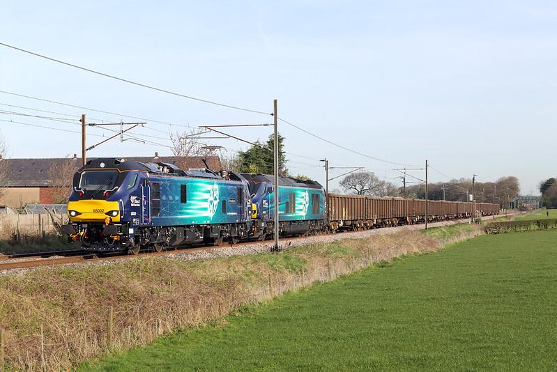 88002 and 68025, Brock 3/4/2017<br /> 6Z88 0536 Carlisle Yard-Crewe Gresty Green