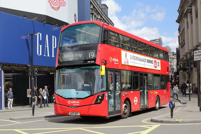 HV274 LK17AFF, Piccadilly Circus 7/6/2017