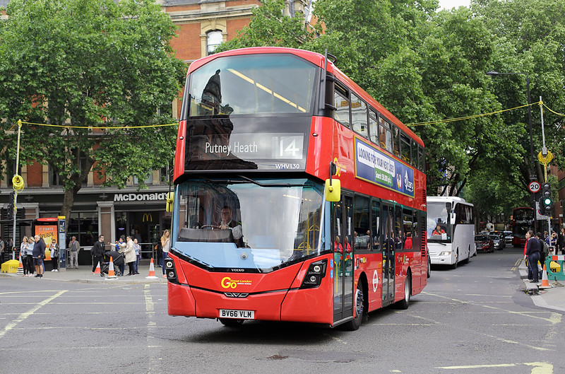 WHV130 BV66VLM, Cambridge Circus 7/6/2017
