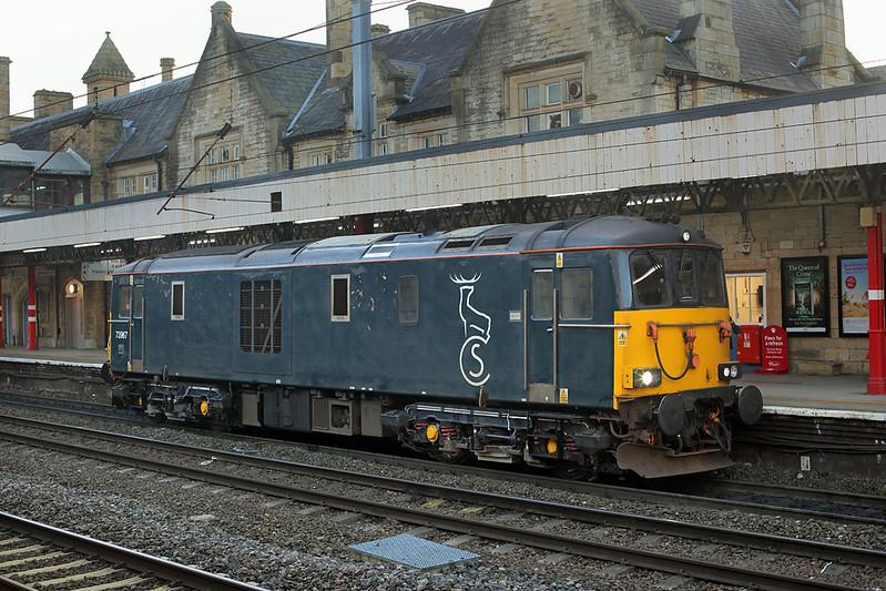 73967 Lancaster 13/2/2017<br /> 0Z52 1215 Crewe-Polmadie CS