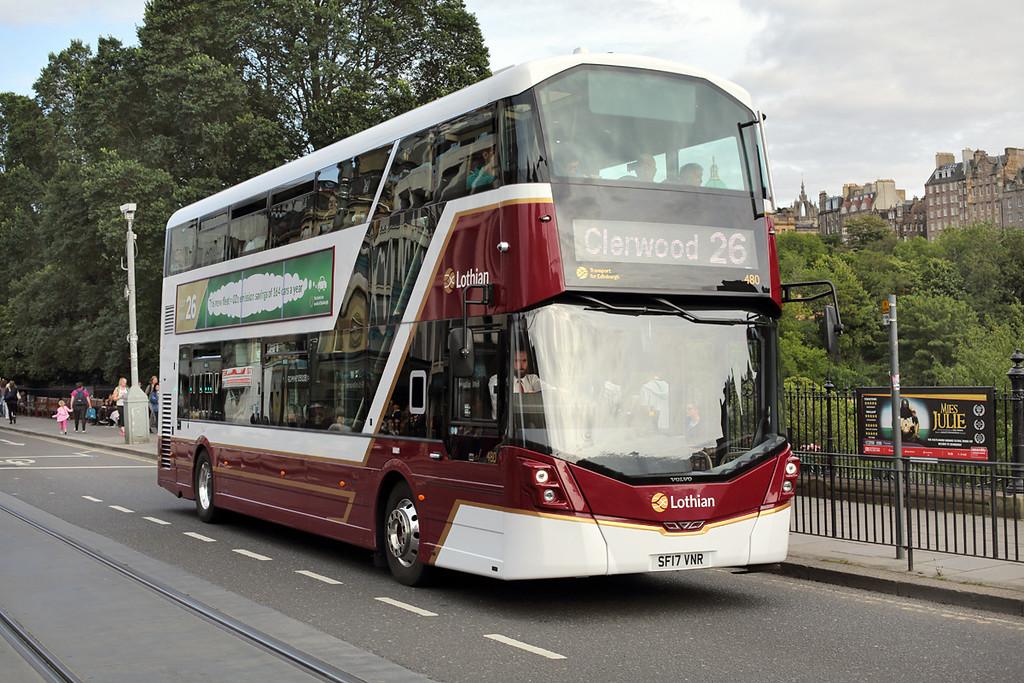 480 SF17VNR, Edinburgh 20/8/2017