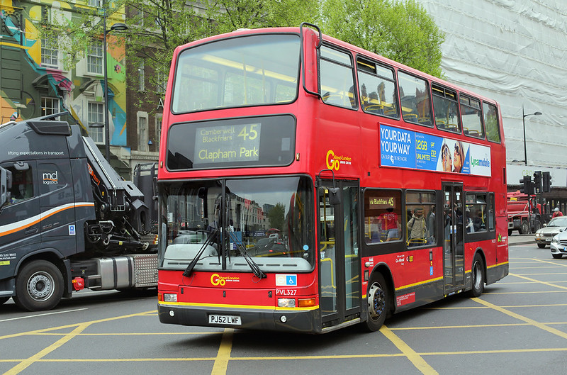 PVL327 PJ52LWF, Kings Cross 21/4/2017