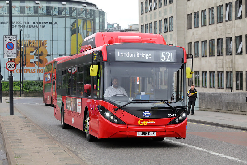 SEe45 LJ66CJE, Waterloo Bridge 21/8/2017