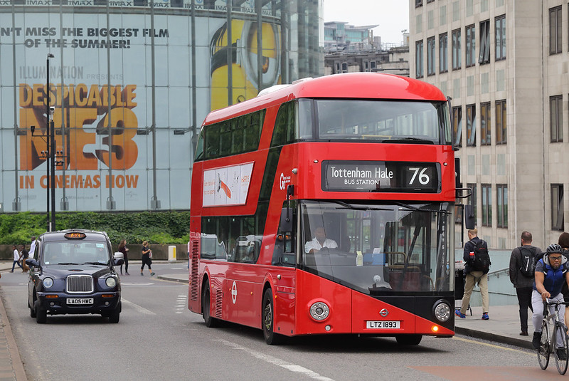 LT893 LTZ1893, Waterloo Bridge 21/8/2017