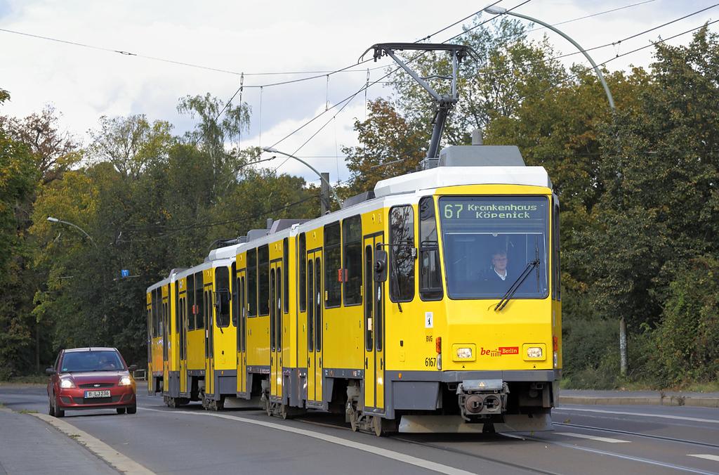 6167 and 6166, Köpenick Dammbrücke 22/9/2017