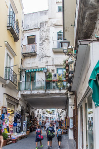 The main street in Amalfi