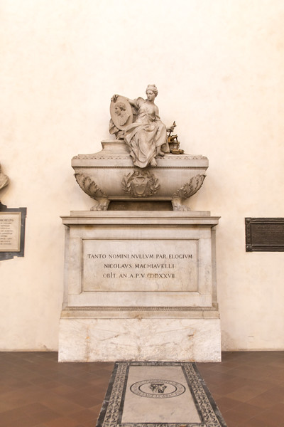 Machiavelli's tomb in Santa Croce