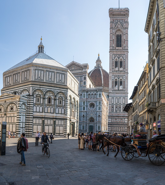 The Baptistry, Duomo and Bell Tower