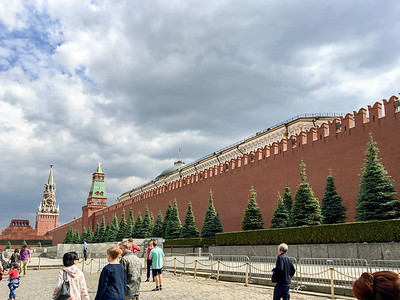 Red Square with Kremlin wall