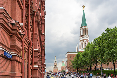 Red Square with Kremlin towers