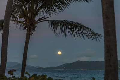 Full moon over St John