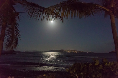 Moon over Cruz Bay, St John