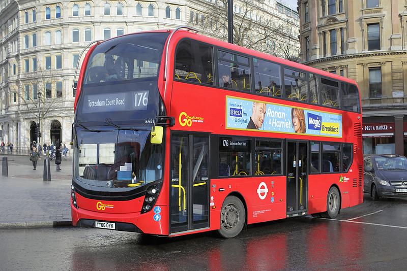 EH81 YY66OYK, Trafalgar Square 6/3/2018